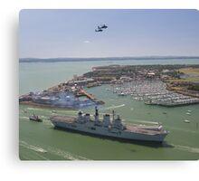 HMS Illustrious final return Canvas Print