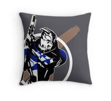 Garrus and Cruiser Throw Pillow