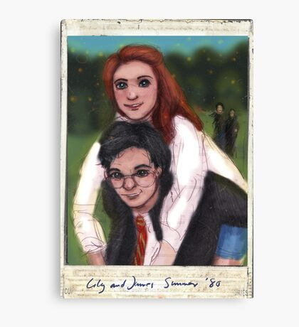 James and Lily 1980 Canvas Print