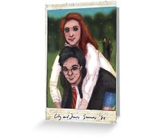 James and Lily 1980 Greeting Card