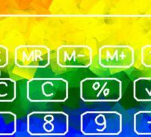 Rainbow Calculator Sticker