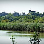 Arundel Castle from the Black Rabbit at Houghton. by Malcolm Chant