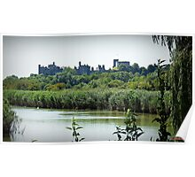 Arundel Castle from the Black Rabbit at Houghton. Poster