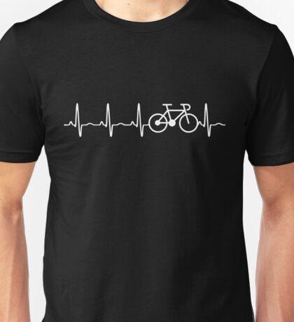 BICYCLE HEARTBEAT Unisex T-Shirt