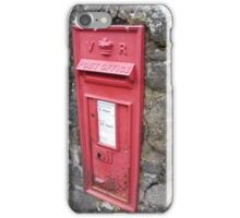 Royal Mail Traditional Red Wall mounted British Post Box iPhone Case/Skin