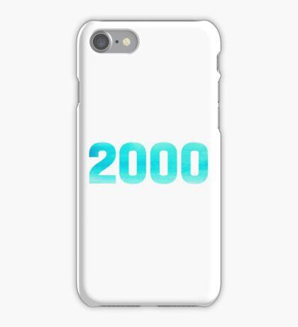2000 Watercolor iPhone Case/Skin