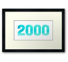 2000 Watercolor Framed Print