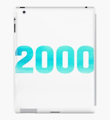 2000 Watercolor iPad Case/Skin