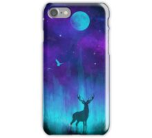 Lunar Marsh: Neon Deer iPhone Case/Skin