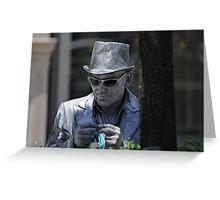Silver man Greeting Card