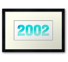 2002 Watercolor Framed Print