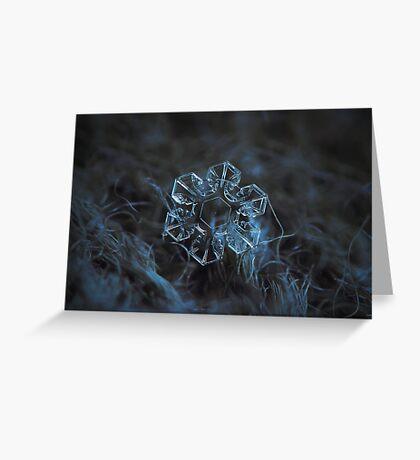 The core, snowflake macro photo Greeting Card
