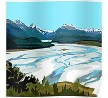Dart River, Glenorchy by Ira Mitchell-Kirk Poster