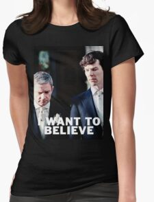 Believe in Johnlock Womens Fitted T-Shirt