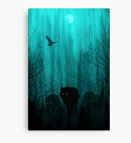 Wolf Pass: Full Moon Zenith Canvas Print