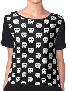 Scott Pilgrim - Pixel Skull Chiffon Top