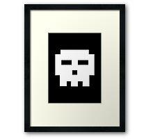 Scott Pilgrim - Pixel Skull Framed Print