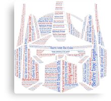 Optimus Prime Quote Word Art Canvas Print