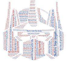 Optimus Prime Quote Word Art Photographic Print