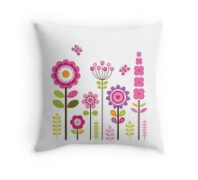 Mod Garden Throw Pillow