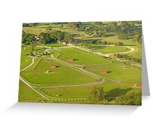 Red Sheds Greeting Card