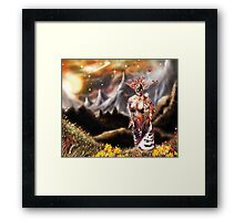 To a Plateau of Green Grass [Digital Fantasy Figure Illustration] Framed Print