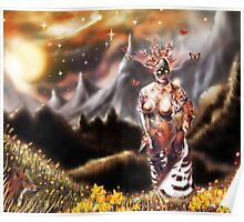 To a Plateau of Green Grass [Digital Fantasy Figure Illustration] Poster