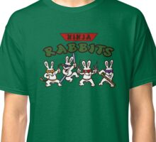 ninja rabbits for a geek nerd fun guy who like tmnt turtle Classic T-Shirt
