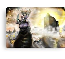The Crystallization [Digital Fantasy Figure Illustration] Canvas Print