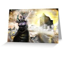 The Crystallization [Digital Fantasy Figure Illustration] Greeting Card