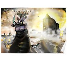 The Crystallization [Digital Fantasy Figure Illustration] Poster