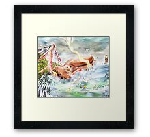 Buy the Seaside, Buy the Sea [Digital Fantasy Figure Illustration] Framed Print