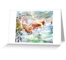 Buy the Seaside, Buy the Sea [Digital Fantasy Figure Illustration] Greeting Card