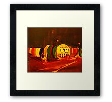 The worm watches on NYE - Yamba NSW Framed Print