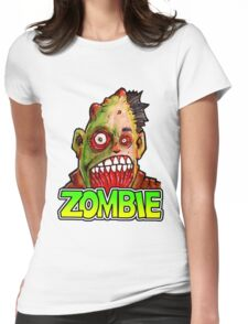 ZOMBIE title with zombie head Womens Fitted T-Shirt