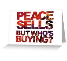 Megadeth - Peace Sells But Who's Buying ? Greeting Card