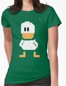 Cute simple Duck Womens Fitted T-Shirt