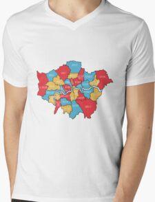 City of London Map Mens V-Neck T-Shirt