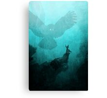 Owl Summoner: Teal Sky  Canvas Print