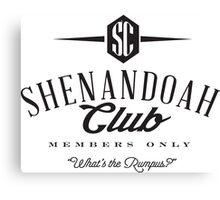 Shenandoah Club Canvas Print