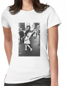 VJ Day Times Square Kiss Womens Fitted T-Shirt