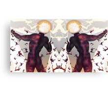Falling in line [Mirrored version] Digital Fantasy Figure Illustration Canvas Print