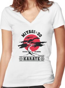 Karate Kid - Mr Miyagi Do Red Variant Women's Fitted V-Neck T-Shirt
