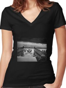 D Day - Omaha Beach Women's Fitted V-Neck T-Shirt