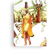Futuristic Woman [Fantasy Figure Illustration] Canvas Print