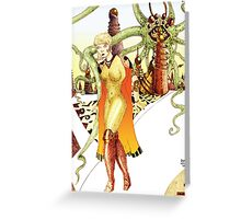 Futuristic Woman [Fantasy Figure Illustration] Greeting Card