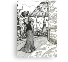 Planet XYZ  [Pen Drawn Fantasy Figure Illustration] Canvas Print