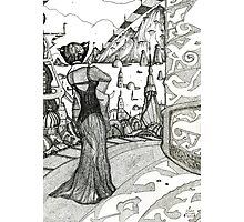 Planet XYZ  [Pen Drawn Fantasy Figure Illustration] Photographic Print
