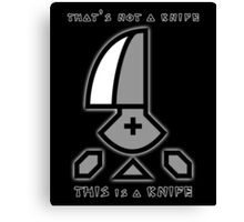 Monster Hunter Throwing Knife Canvas Print