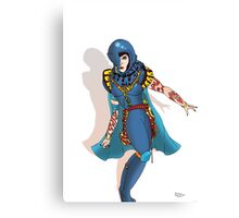 Blue Science fiction Warrior  [Pen Drawn Fantasy Figure Illustration] Canvas Print